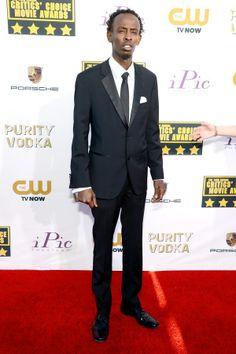 Barkhad Abdi attends the19th Annual Critics' Choice Movie Awards at Barker Hangar on January 16, 2014 in Santa Monica, California.