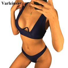34634a3bb0 New V-Bar Underwired Bikini Swimsuit WomenTwo-Piece V Shape Wire Bikini Set  High Cut V1075  Discounts  BestPrice