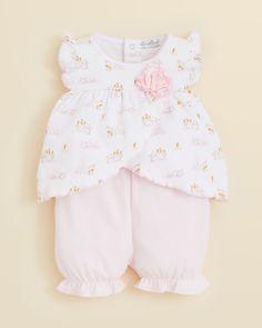 Kissy Kissy Baby Girls' Cottontail Print Sunsuit & Shorts Set