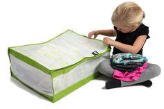 Väskor för barnkläder,  86/92 grön