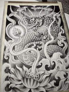 Khmer Tattoo, Thai Tattoo, Lotus Tattoo Design, Tattoo Designs, Sak Yant Tattoo, Thailand Tattoo, Cute Sketches, Thai Art, Thai Style