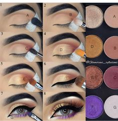 Step by step pictorial make-up look with LotusLuxe eyeshadow by . # Step by step pictorial make-up look with LotusLuxe eyeshadow by . Eid Makeup, Makeup 101, Makeup Inspo, Makeup Inspiration, Makeup Ideas, Makeup Salon, Makeup Studio, Makeup Style, Beauty Style