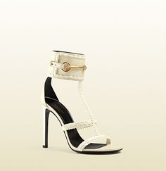 Gucci - leather ankle-strap sandal 370860C9DS06336