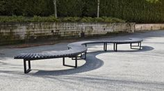 Wishbone Skyline Circle Bench 3 Sections Curved Bench, Outdoor Furniture, Outdoor Decor, Sun Lounger, Skyline, Waves, Home Decor, Chaise Longue, Decoration Home