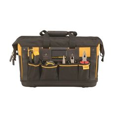 Stanley Fatmax Open Mouth Rigid Tool Bag | Homebase Storage Solutions, Shoulder Strap, Tools, Bags, Handle, Pockets, Design, Products, Handbags