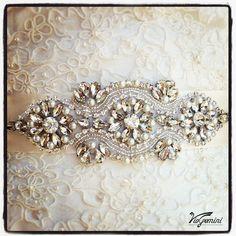 Hey, I found this really awesome Etsy listing at https://www.etsy.com/listing/153340591/bridal-sash-rhinestones-and-pearl-sash