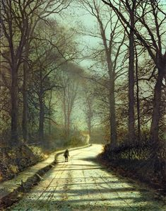 Moonlight Walk Art Print by John Atkinson Grimshaw . All prints are professionally printed, packaged, and shipped within 3 - 4 business days. Choose from multiple sizes and hundreds of frame and mat options. Atkinson Grimshaw, Moonlight Painting, Moon Art, Urban Landscape, Gravure, Leeds, Beautiful Landscapes, Fine Art America, Nocturne