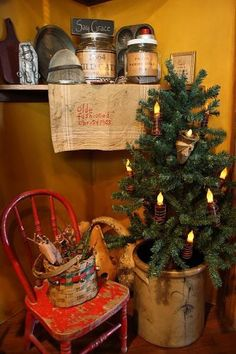 Primitive Christmas Decorating Ideas | Country Christmas For a Guest Room | homegarnish.com The Ultimate Home ...