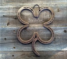 Welded Art Custom Color Four Leaf Clover. HorseShoeFever on Etsy. Horseshoe Decor, Horseshoe Art, Western Home Decor, Rustic Decor, Copper, Irish, Ireland, Good Luck, Wall Art, Horses, Equine, Cowgirl, Cowboy, Country