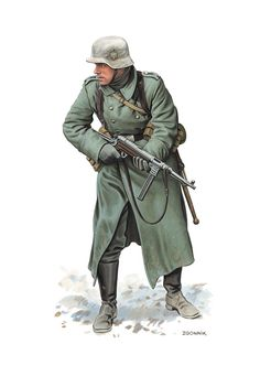 Wehrmacht soldier in 1941 winter uniform