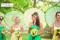 Yellow sunflower bouquet (spring wedding, yellow and green wedding colors)