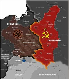 """lamus-dworski: """" The Nazi-Soviet invasion of Poland in September 1939 The Molotov-Ribbentrop Pact, named after the Soviet foreign minister Vyacheslav Molotov and the German foreign minister Joachim. Joachim Von Ribbentrop, World Empire, Imaginary Maps, Invasion Of Poland, Alternate History, Historical Maps, Countries Of The World, Military History, World History"""