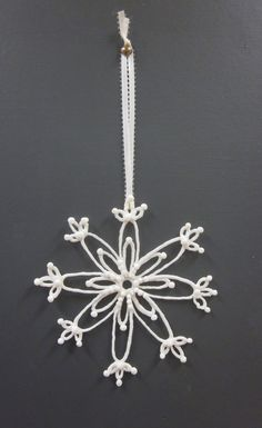Christmas Ornament Snowflake Large Ceramic White SALE 25 % OFF. $22.50, via Etsy.