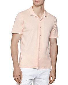 Reiss Fellow Slub Cuban Regular Fit Shirt In Soft Pink Reiss, Cuban, Workout Shirts, Men Casual, Mens Fashion, Fitness, Mens Tops, Outfits, Clothes