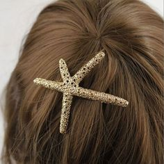 6.29$  Buy now - http://diqjk.justgood.pw/go.php?t=105407201 - Retro Style Rhinestone Embellished Starfish Shape Hairpin For Women
