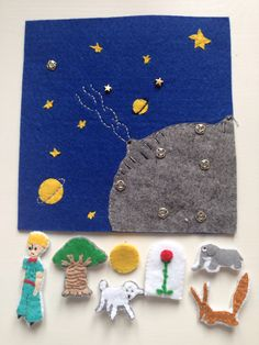 Felt The Little Prince And his friends Quiet Book Page - will turn into a book soon