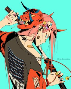character art Darling in the Franxx commission. Manga Anime, Manga Art, Anime Guys, Cartoon Kunst, Cartoon Art, Yuumei Art, Cyberpunk Kunst, Japon Illustration, Samurai Art