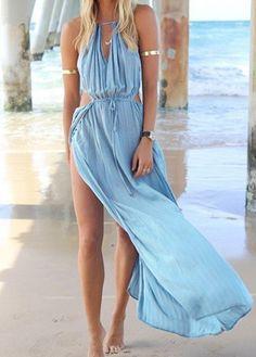BEACH HIPPIE Beach Maxi Dress Blue $35 SHIPS FREE ♥ BUY HERE: http://www.beachhippieinc.net/beach-hippie-beach-maxi-dress-blue/ ♥ INCLUDES NORTON SHOPPING PROTECTION & LOWEST PRICE GUARANTEE!