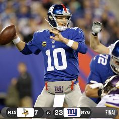 The Giants top the Vikings and grab their first victory of the season!