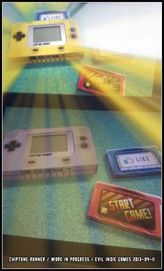 Chiptune Runner. Main menu. Photo. #gamedev #indiegame #indie #chiptune #retro