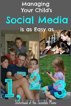 Parenting tips for managing your child's social media. | Parenting Advice | Family Social Media Guide | Sisterhood of the Sensible Moms