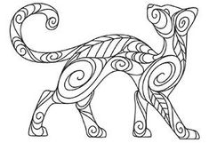 Doodle Cat_image -- cool embroidery patterns from Urban Threads