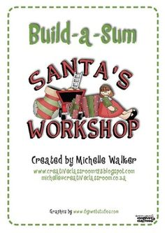 FREE Santa's Workshop Build-a-Sum