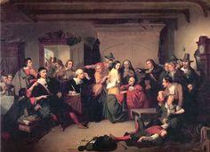 19 de septiembre: en los juicios por brujería en Salem, Giles Corey pierde la vida en medio del interrogatorio al que fue sometido   Casa de la Historia