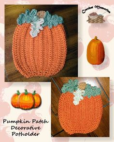 Our decorative potholder will have you dreaming of pumpkins with it's textured stitching and big full leaves. Celebrate fall, Halloween or Thanksgiving! Rated: Easy - Intermediate Pattern Informati...