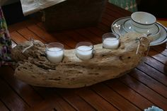 Light the way... Driftwood candle holders at #Annapolis #Maritime #Antiques
