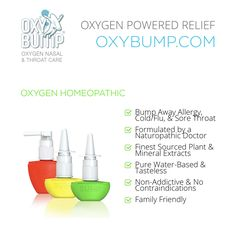 Oxygen Homeopathic  #bumpaway #bumpit #familyfriendly #nonaddictive #homeopathic #oxygen #oxybump #allergyrelief #childrens #cold #flu #relief Sinus Congestion Relief, Health Products, Pure Products, Allergy Relief, Flu, Sprays, Friends Family, Bump, Target