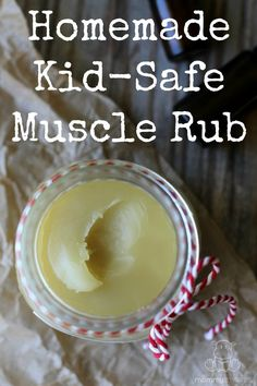 This deeply relaxing homemade muscle rub soothes tense, tired, or achy muscles. It's safe for pregnant/nursing moms and kids over two and so easy to make!