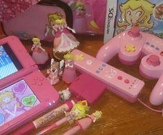 The Year of Princess Peach Kawaii Games, Kawaii Room, Cute Games, Gamer Room, Everything Pink, Retro Aesthetic, Indie Kids, Cute Pink, Pastel Pink