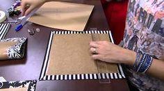Bolsa Tamiris em Cartonagem com Ana Cristina | Vitrine do Artesanato na TV - YouTube