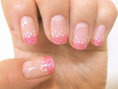 gel nail / pink sequin*