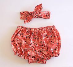 Organic Coral Baby Bloomer Set Baby by OrganicMinikins on Etsy