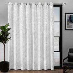 Forest Hill Patio Woven Blackout Grommet Top Single Curtain Panel Ash Grey - Exclusive Home Gender: Unisex. Forest Hill Patio Woven Blackout Grommet Top Single Curtain Panel Ash Grey - Exclusive Home Patio Curtains, Home Curtains, Grommet Curtains, Hanging Curtains, Blackout Curtains, Window Curtains, Curtain Panels, Net Curtains, Farmhouse Curtains