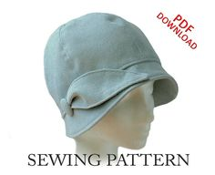 SEWING PATTERN Daphne 1920s Cloche Hat for by ElsewhenMillinery
