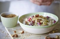Pear and cranberry overnight oats / The Body Coach Blog / The Body Coach