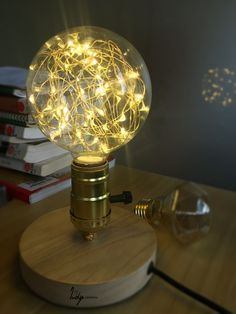 A combination of string lights and a classic vintage Edison bulb, this stylish decor piece uses up to 90% less energy than a traditional incandescent bulb.