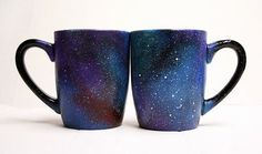 My mind is just as empty as space on Monday mornings. I need these space mugs for my morning coffee.