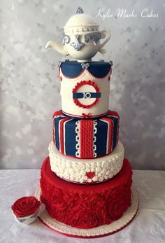 British themed cake by Kylie Marks