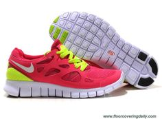 Discounts Red Yellow Nike Free Run 2 Womens 443815-107