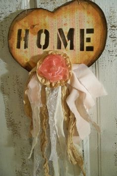 Hand made heart wall shabby chic decor by AnitaSperoDesign on Etsy, $40.00