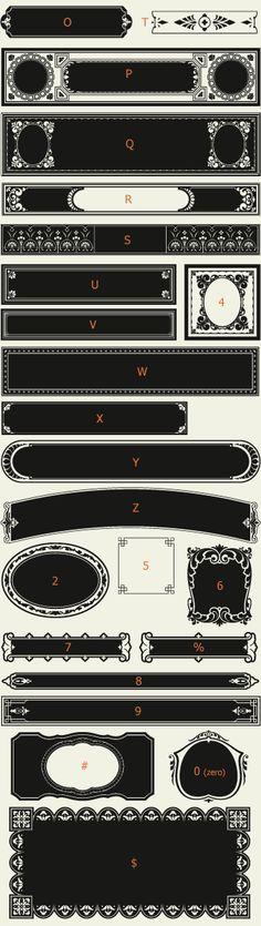 Letterhead Fonts / LHF Saratoga Panels 1/ Ribbons and Panels