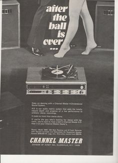 1973 Channel Master 4 Dimensional Sound System Stereo by fromjanet