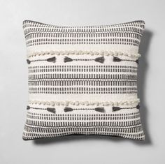 Chip Joanna Gaines Magnolia Home Throw Pillow Green//Ivory New NWT 18 x 18