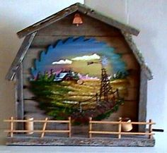 Old Barn with Painted Saw Blade