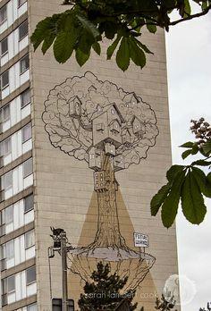 Treehouse street art in Ghent, Belgium   Sarah-Lambert Cook
