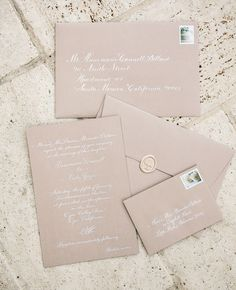 Blush with white writing #wedding invitations & wedding stationery ... Wedding ideas for brides, grooms, parents & planners ... https://itunes.apple.com/us/app/the-gold-wedding-planner/id498112599?ls=1=8 … plus how to organise an entire wedding ♥ The Gold Wedding Planner iPhone App ♥
